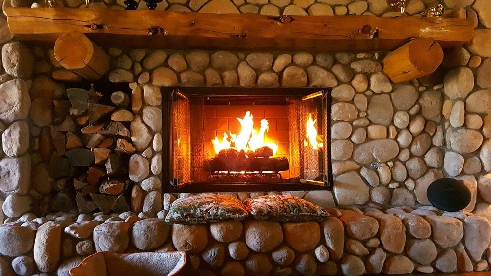 fireplace fire home interior warm