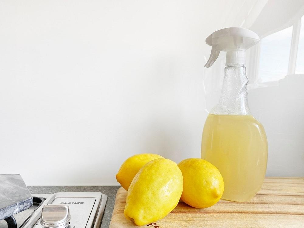Homemade citrus peel & vinegar multi-purpose cleaner